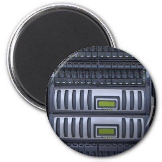 datacenter computer servers rack refrigerator magnets