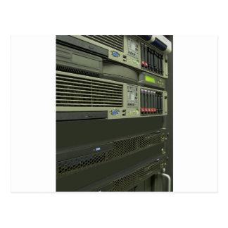 datacenter computer servers rack postcard