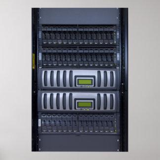 datacenter computer servers rack poster