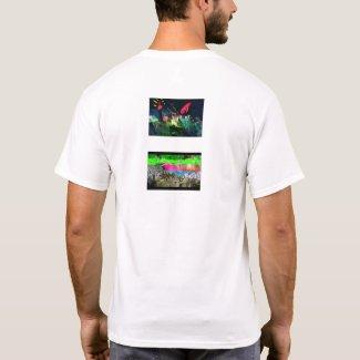 datamosh backstyle #22 minimal T-Shirt