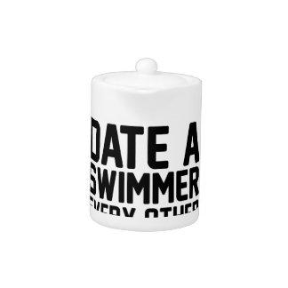 Date a Swimmer Teapot