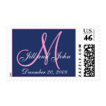 Date First Names and Monogram Wedding Postage