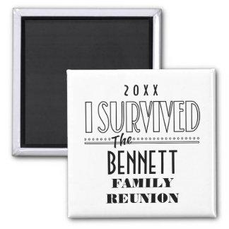 Date Fun Family Reunion Sq Keepsake Souvenir Gift Magnet