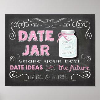 Date ideas jar chalkboard Poster