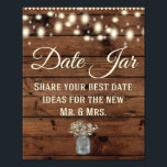"Date Jar, Wedding Sign, Wedding Decor, Rustic Photo Print<br><div class=""desc"">Great Rustic wedding sign for your special day!</div>"
