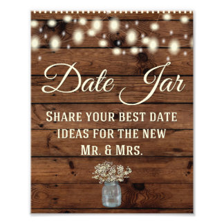 Date Jar, Wedding Sign, Wedding Decor, Rustic Photo Print