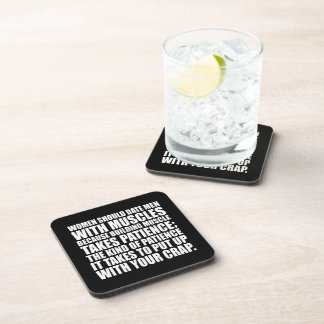 Date Men With Muscles - Funny Bodybuilding Drink Coaster