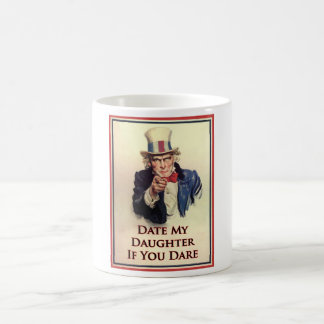 Date My Daughter Uncle Sam Poster Classic White Coffee Mug