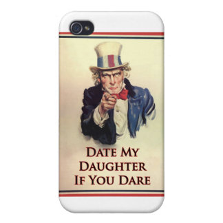 Date My Daughter Uncle Sam Poster iPhone 4/4S Covers