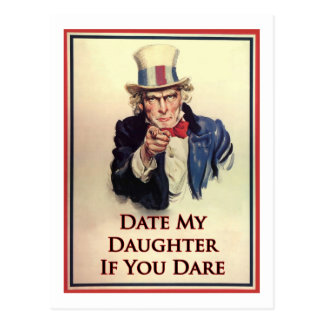 Date My Daughter Uncle Sam Poster Postcard