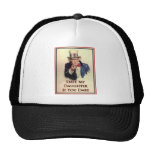 Date My Daughter Uncle Sam Poster Trucker Hat