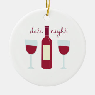 Date Night Ceramic Ornament