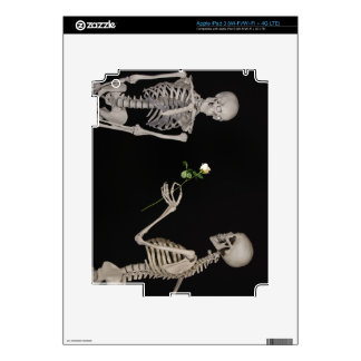 Date night Cute skeleton couple Decal For iPad 3