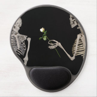 Date night Cute skeleton couple Gel Mouse Pad