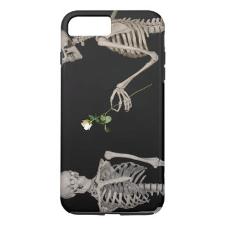 Date night Cute skeleton couple iPhone 7 Plus Case