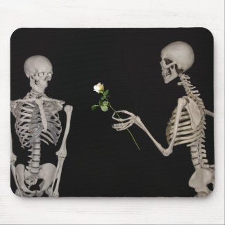 Date night Cute skeleton couple Mouse Pad
