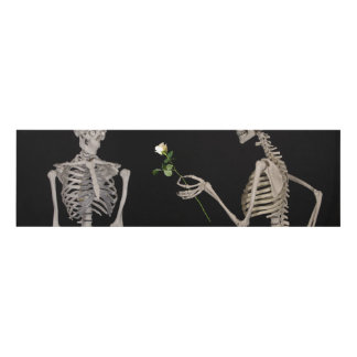 Date night Cute skeleton couple Panel Wall Art