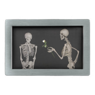 Date night Cute skeleton couple Rectangular Belt Buckle