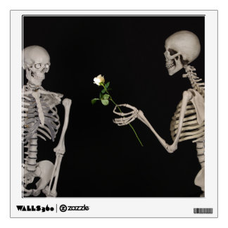 Date night Cute skeleton couple Wall Decal