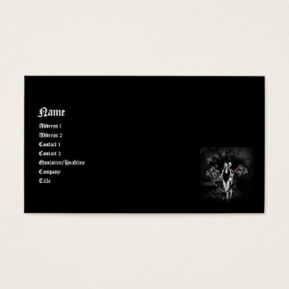 Date Night Gothic Fantasy 3D Business Card