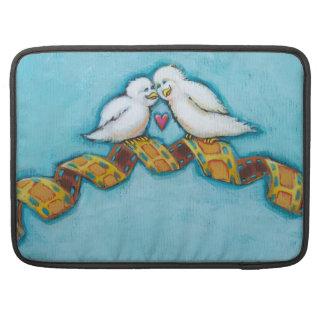 Date night romantic movies cute love bird pair MacBook pro sleeve