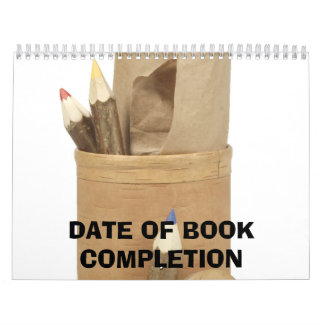 Date of book completion calendar