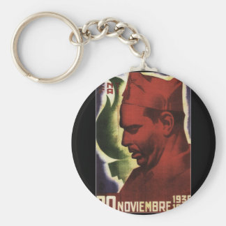 Date of Durruti's death on_Propaganda Poster Keychain
