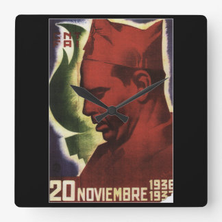 Date of Durruti's death on_Propaganda Poster Square Wall Clock