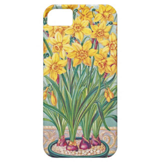 date rsvp  flowers daffodil yellow vintage iPhone 5 case