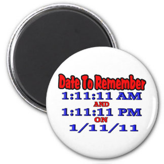 Date To Remember 1-11-11 Magnet