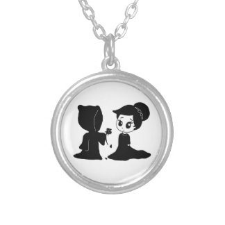 Date with Death Silver Plated Necklace