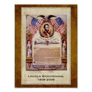 Dated Commemorative Emancipation Proclamation Poster