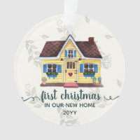 Dated First Christmas New Home With Names Ornament