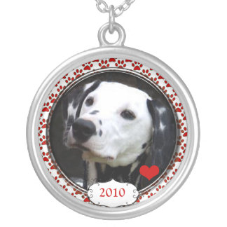 Dated Heart Your Dog Photo Necklace