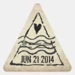 Dated Passport Stamp Sticker