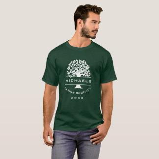 Dated Silhouette Mens Family Tree Reunion Souvenir T-Shirt