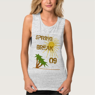 Dated Spring Break Palm Trees and Sunsert Tank Top