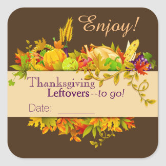 Dated Thanksgiving Leftover Stickers