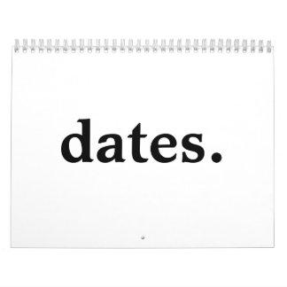 dates. calendar