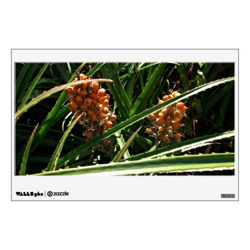 Dates in shrubs wall decal