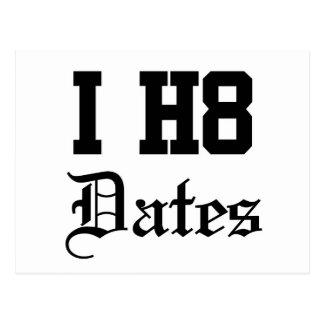 dates postcard