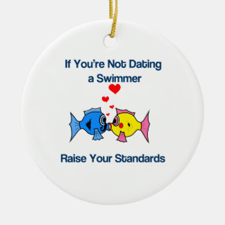 Dating a Swimmer Ornament
