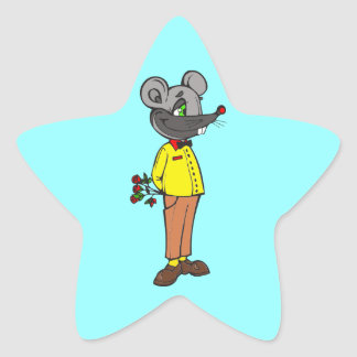 Dating Mouse Star Sticker