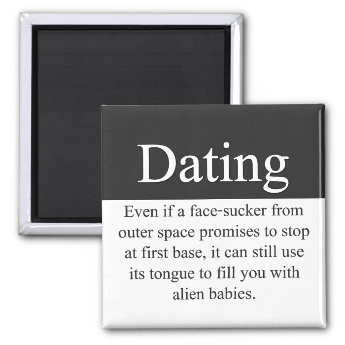 Dating Round 2 Inch Square Magnet