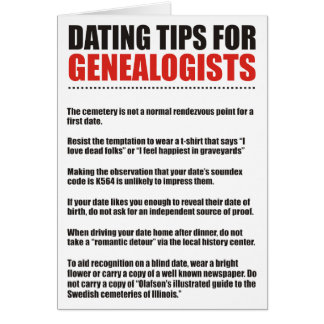 Dating Tips For Genealogists Card