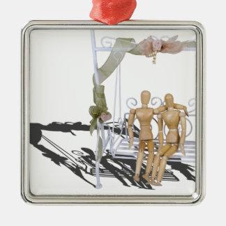 DatingOnGardenSwingSet103013.png Metal Ornament