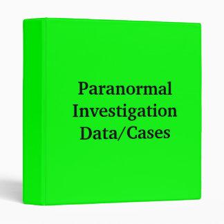 """Datos/casos paranormales de la investigación carpeta 1"""""""