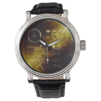 Datos del disco de oro del viajero relojes de pulsera
