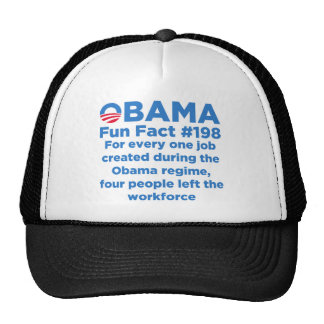 Datos divertidos de Obama Gorros Bordados