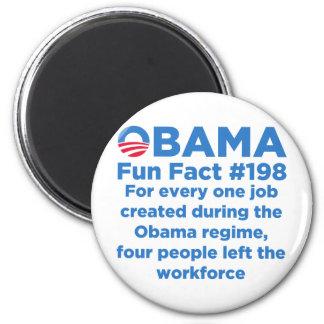 Datos divertidos de Obama Imán Redondo 5 Cm